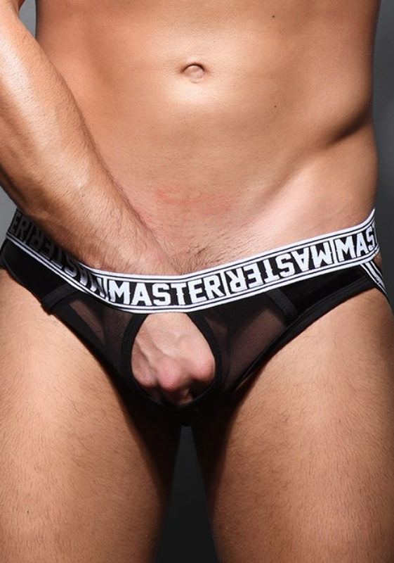 Andrew Christian Black Master Sheer C-Ring Jock