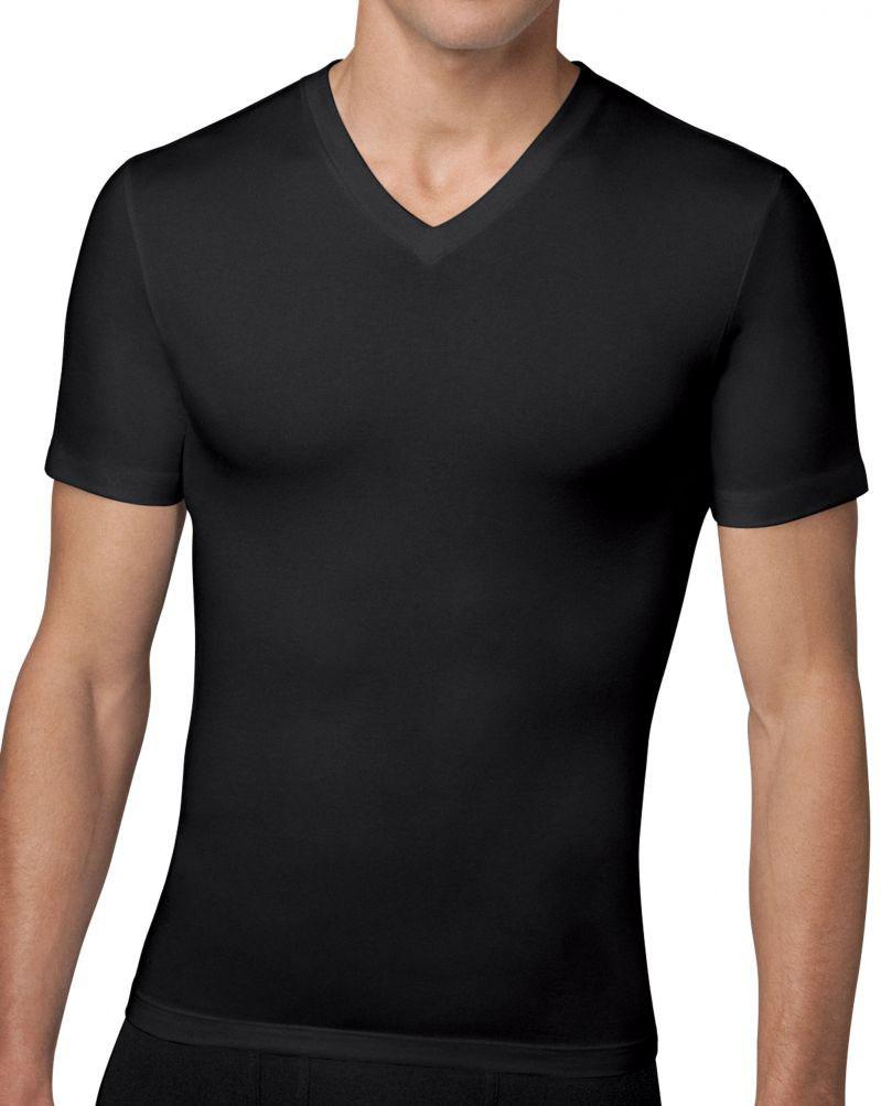 SPANX 610 Compression V-Neck T-Shirt | Black