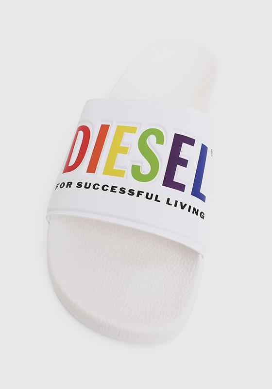 Diesel Pride Badeschuhe White