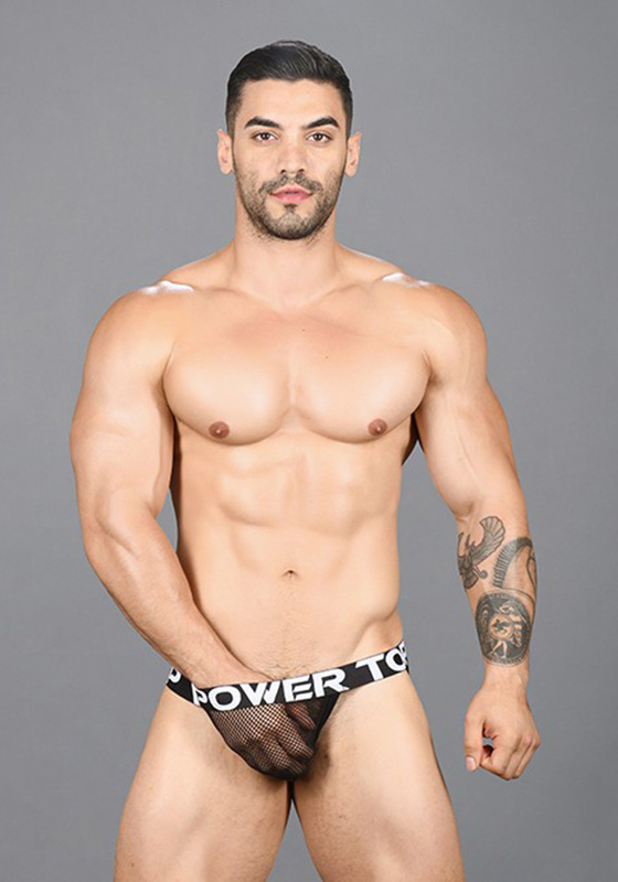 Andrew Christian 91457 Black Power Top Jock