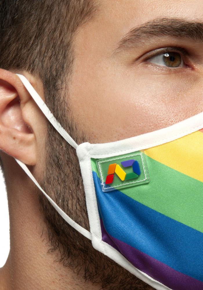 Addicted Rainbow Gesichtsmaske