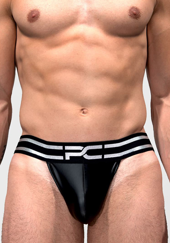 Project Claude PCC059 black Wetlook Jock