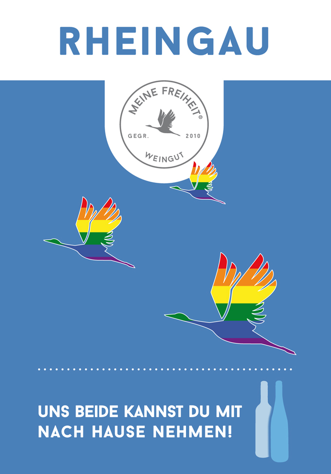 "Wein Riesling Feinherb ""Pride Edition"" (1,33 € / 100 ml)"