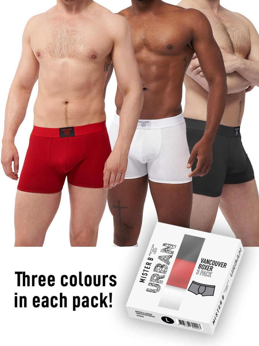 Mister B Urban Vancouver Boxer 3-Pack