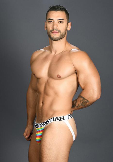 Andrew Christian Pride Rainbow Stripe Jock