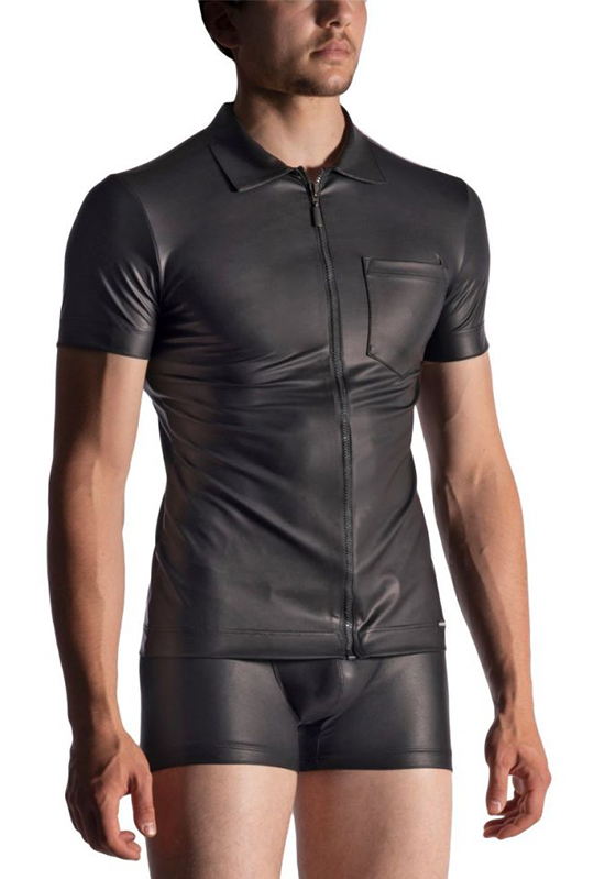 MANSTORE M510 black XXL Zipped Shirt