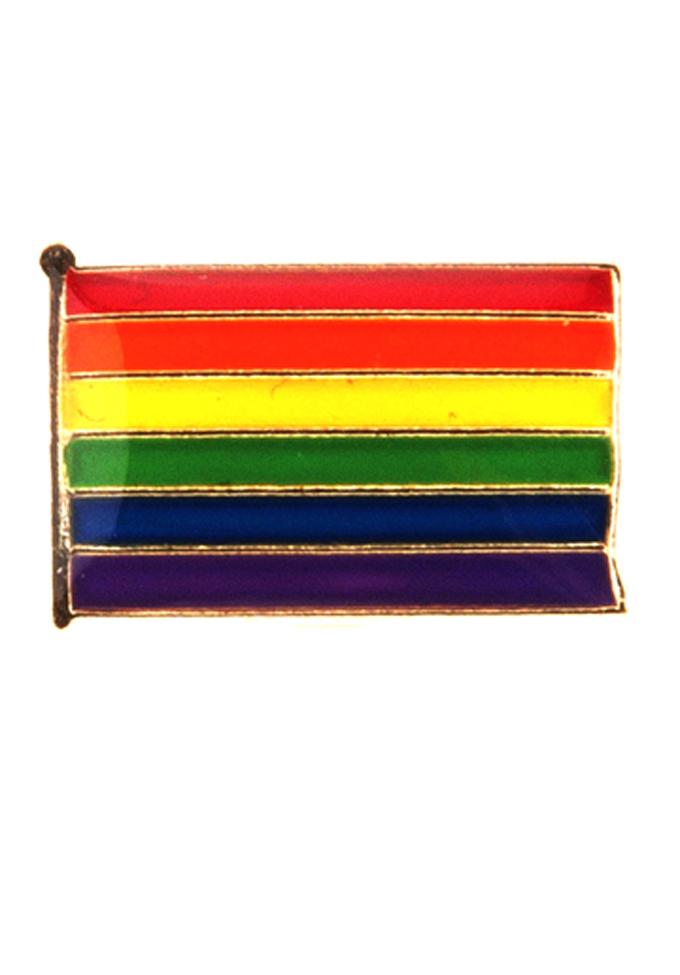 Pin Regenbogen Flagge