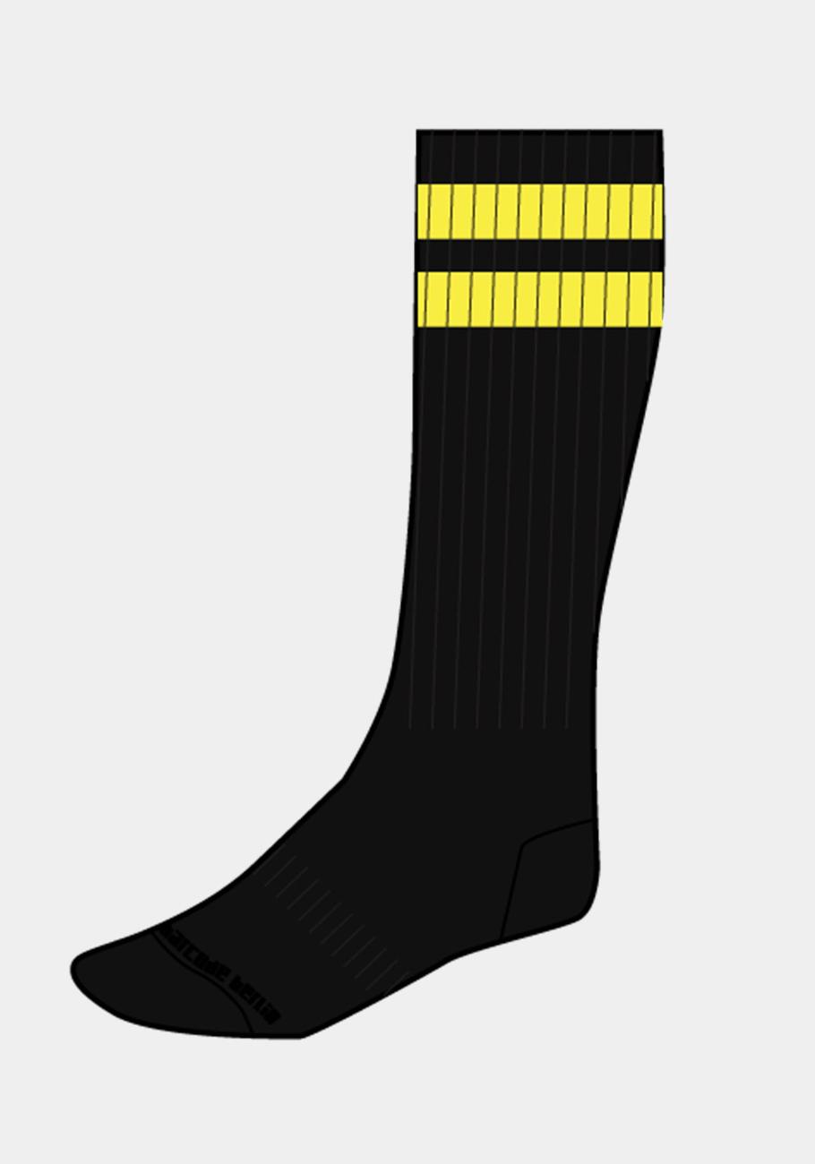 Barcode Berlin Gym Socks | Black/Yellow