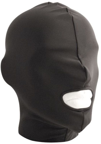 Mr. B: black Lycra Hood Mouth Open Only Maske