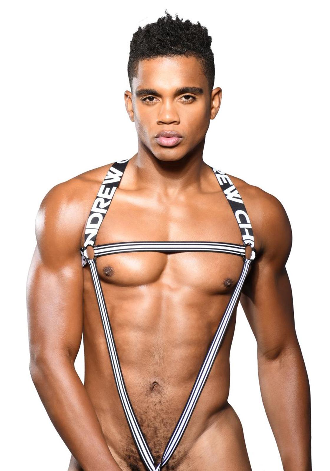 Andrew Christian C-Ring Harness | Black/White