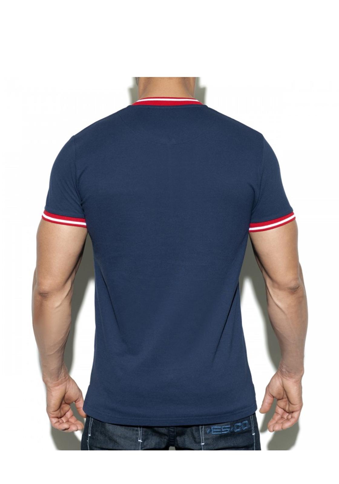 ES Collection Short Zip Mao Polo | Navy
