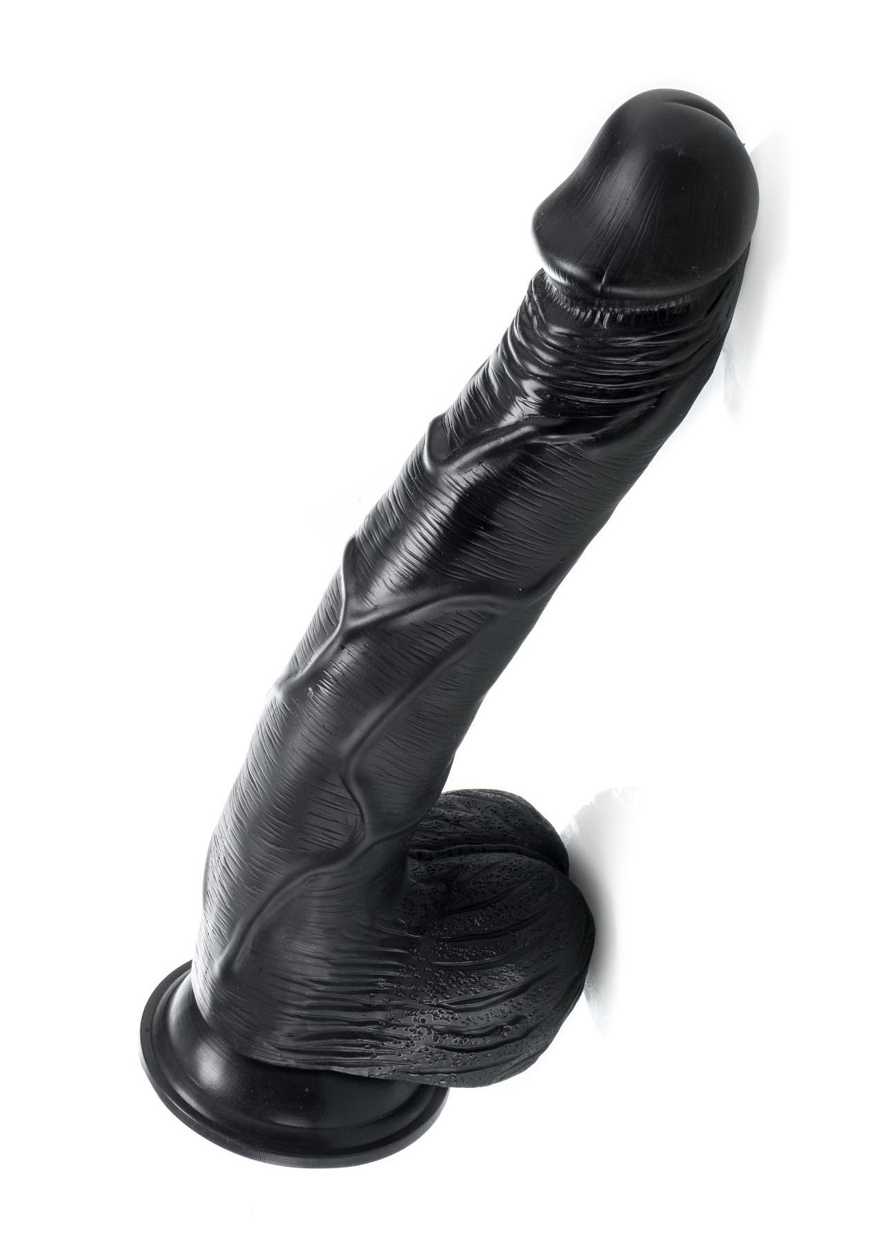 ZENN: John's Dick - Dildo black (35 x 6,0 cm)
