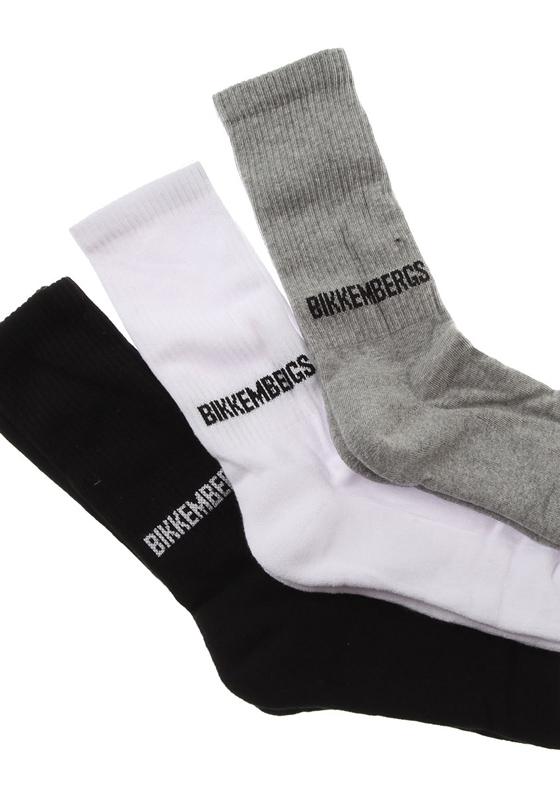 BIKKEMBERGS BCC1106 blk/wht/gry 3er-Socks Short