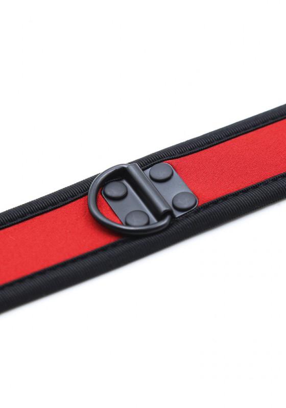 Rude Rider Neopren Puppy Halsband Rot