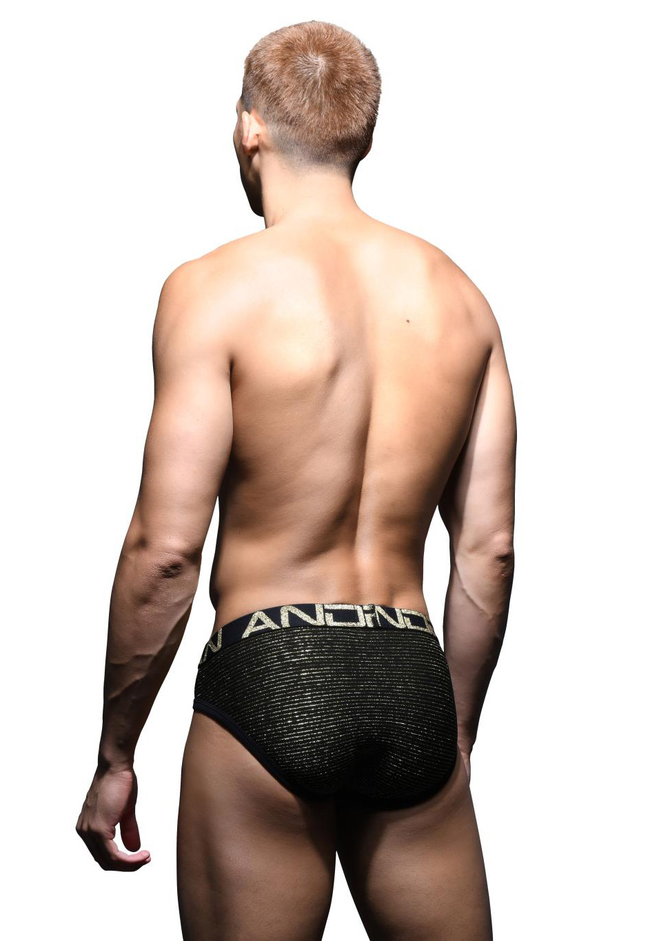 Andrew Christian Glam Stripe Brief w/Almost Naked