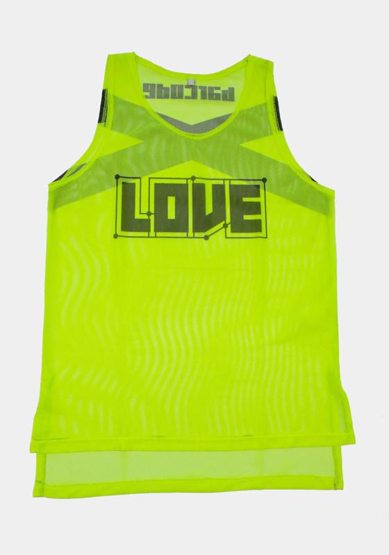 Barcode Berlin 91612 Neon Tank Top LOVE