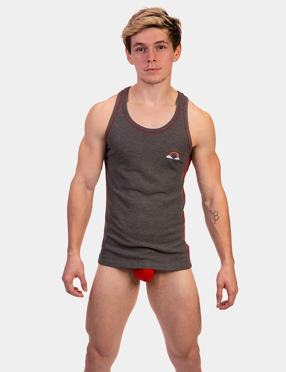 BC 91825 grey-red M Tank Top Ricardo