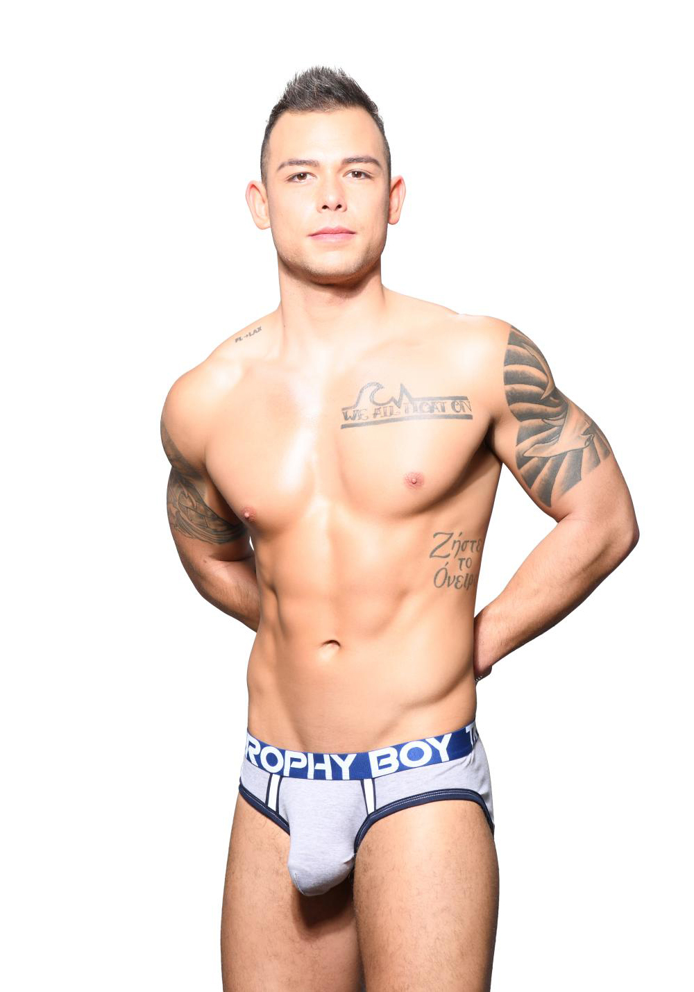 Andrew Christian Trophy Boy Brief | Heather Grey
