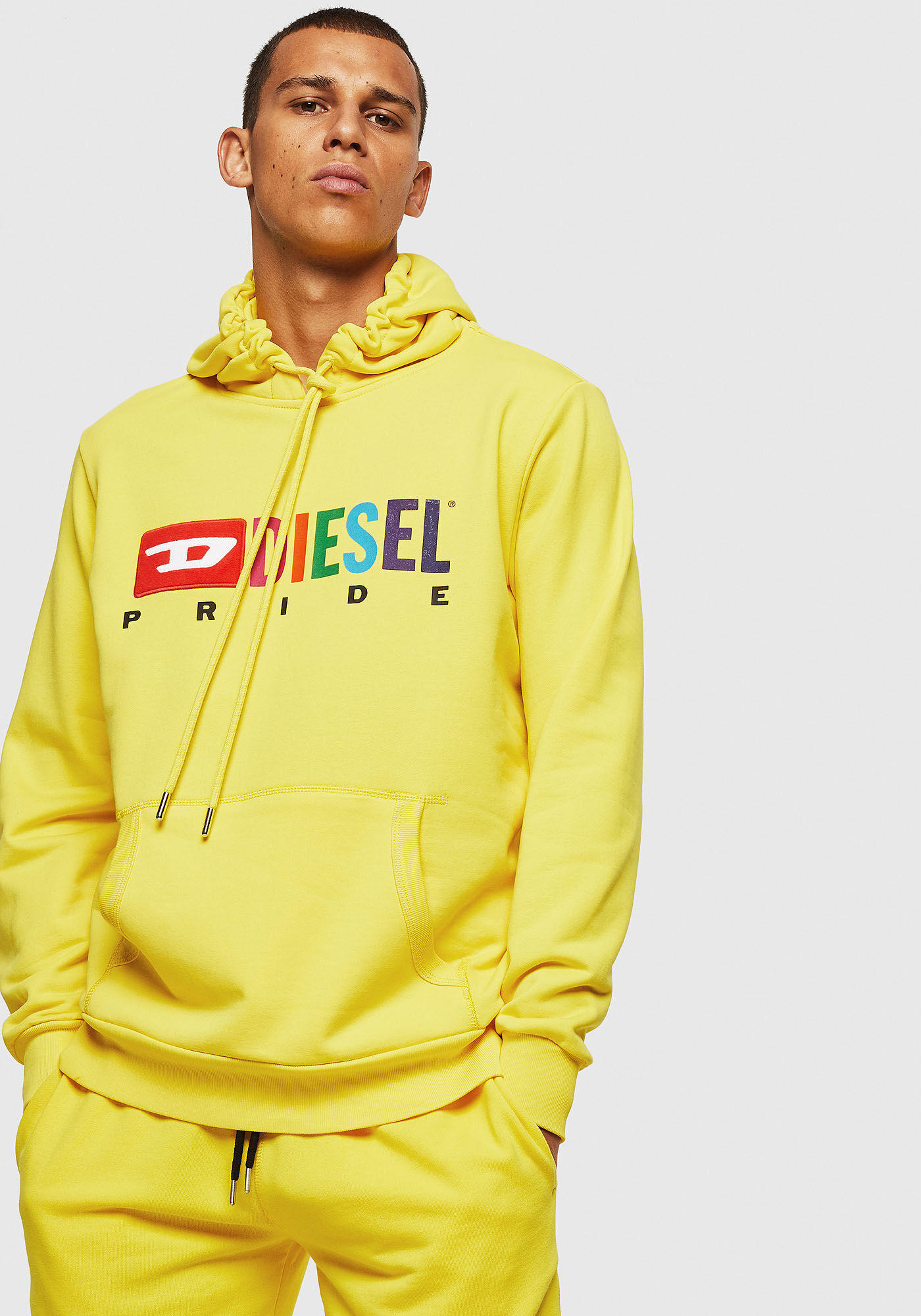 Diesel Pride Hoodie Yellow