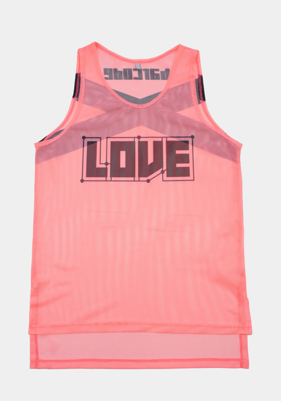 Barcode Berlin 91612 Neon Tank Top LOVE