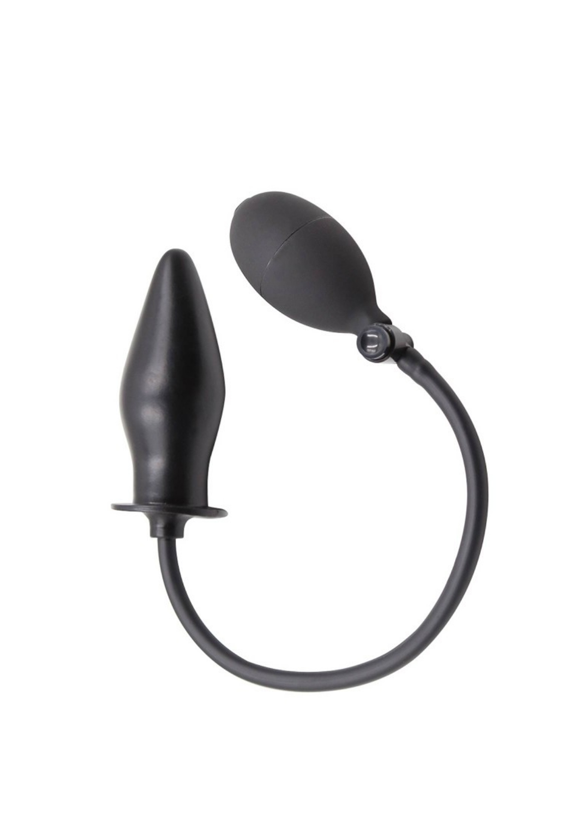 Rude Rider: Inflatable Butt Plug Rubber | Black