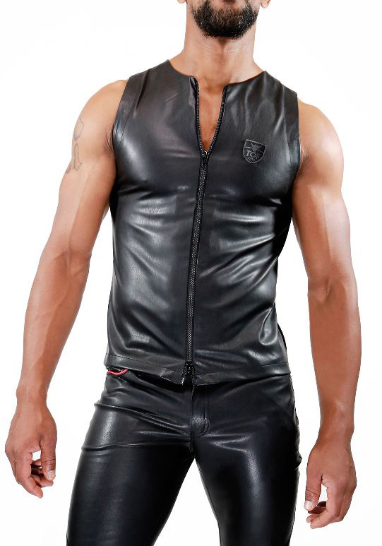 TOF TS0036N Zipped Fetish Tank Top
