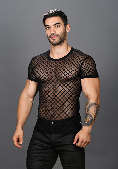 Andrew 10287 Lace Sheer Tee Shirt