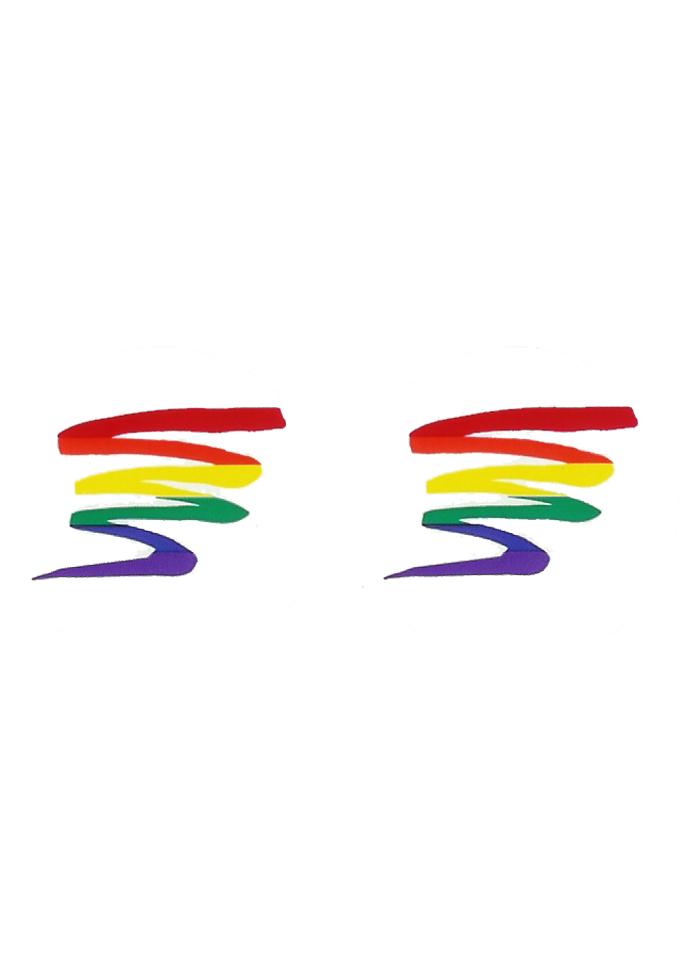 Regenbogen Aufkleber Zickzack (2 Stück)