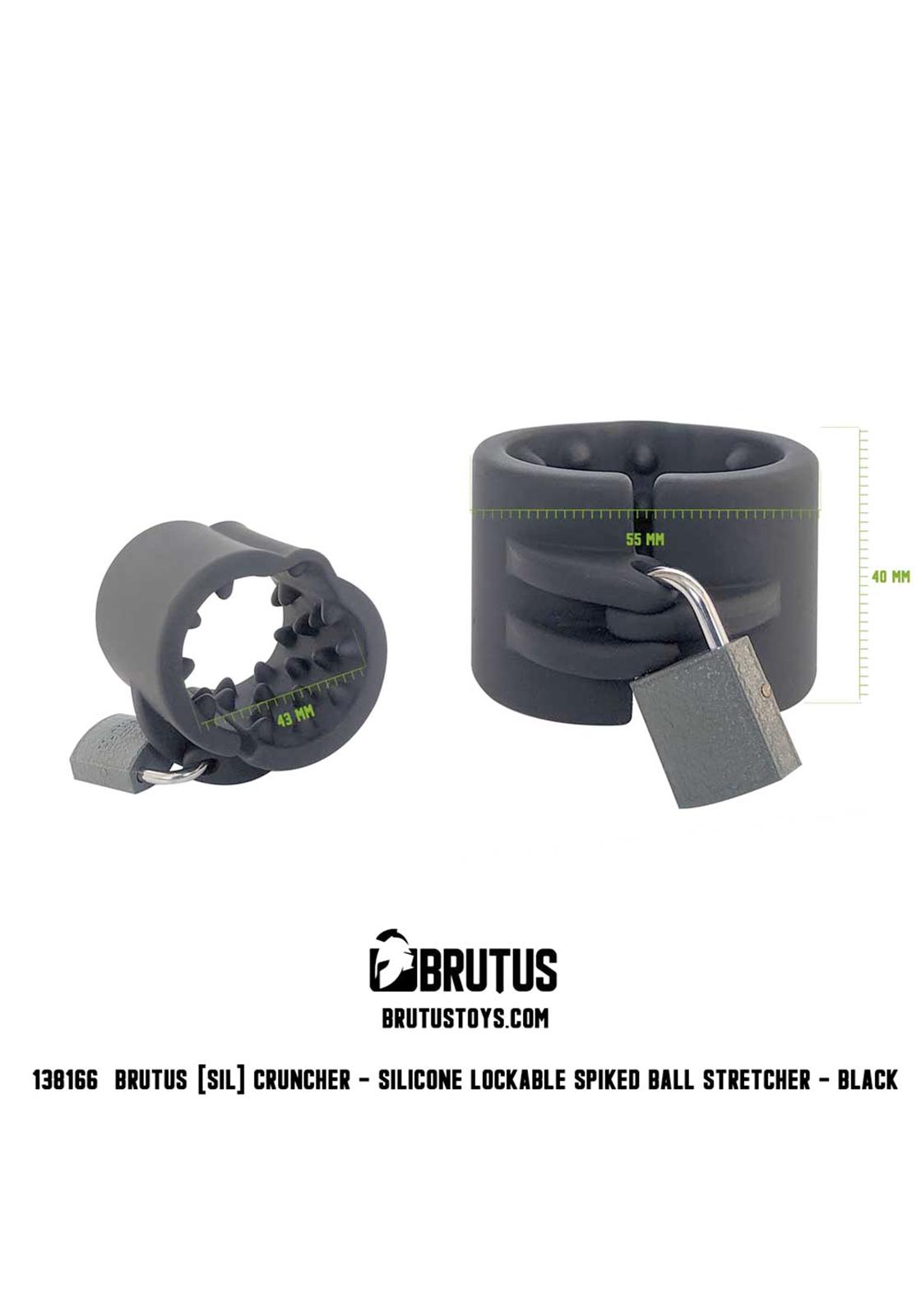 Brutus: Cruncher - Lockable Ball Stretcher | Black