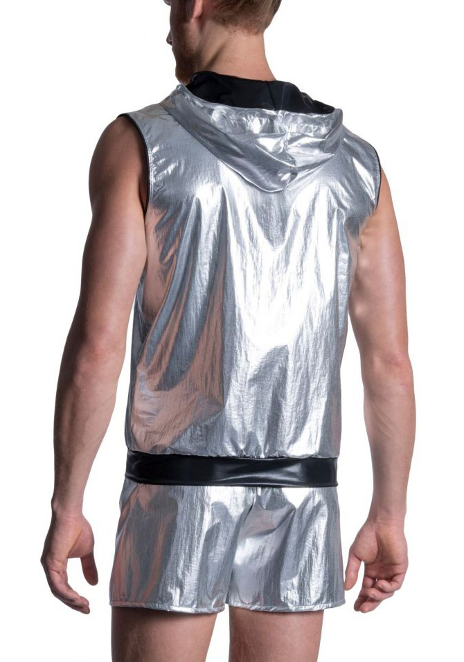 Manstore Zipped Hoody | Silver