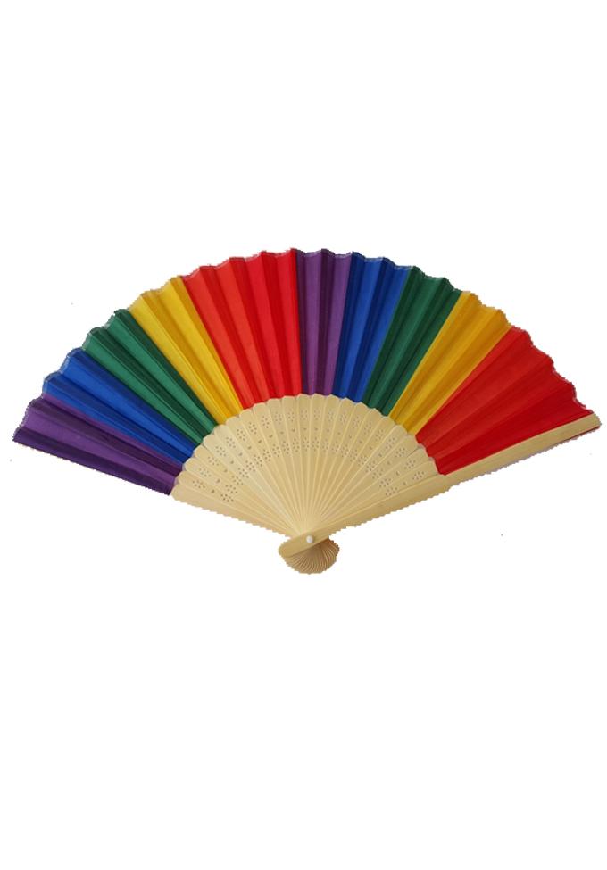 Regenbogen Handfächer