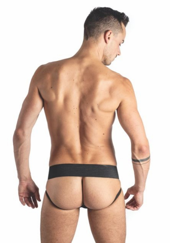 Mr. B Leder Jockstrap Two Bands