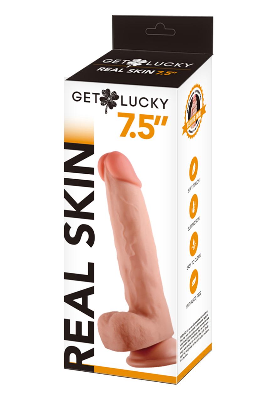 Get Lucky: Flesh Real Skin Dildo 7,5''