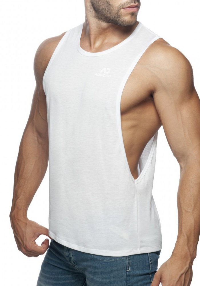 Addicted Low Rider Tank Top | White