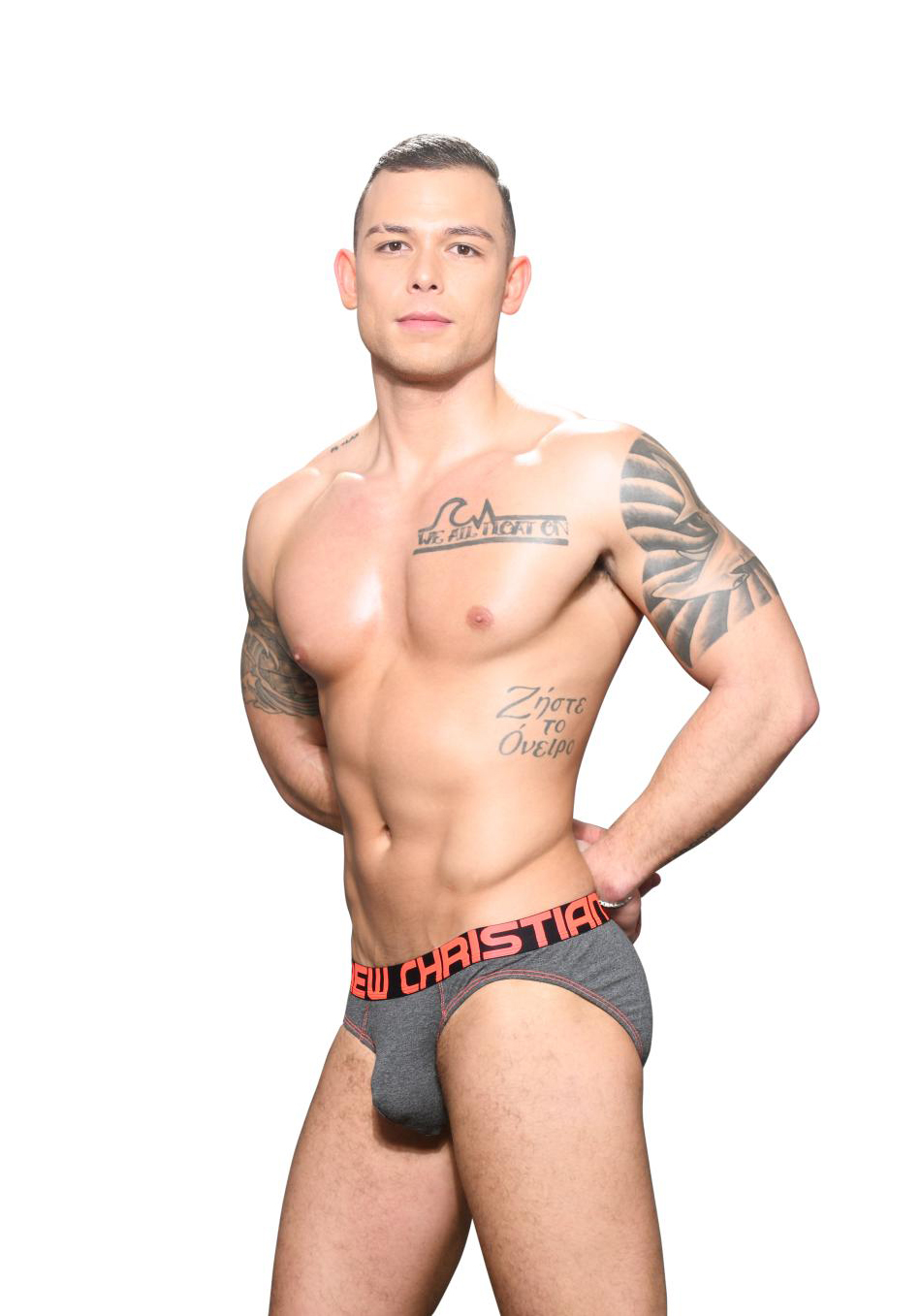 Andrew Christian Bamboo Brief Almost Naked | Charcoal