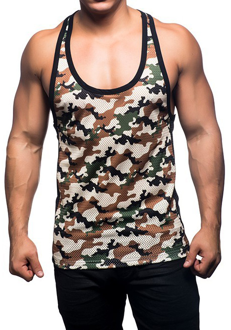 Andrew Christian 2674 Camouflage Mesh Tank