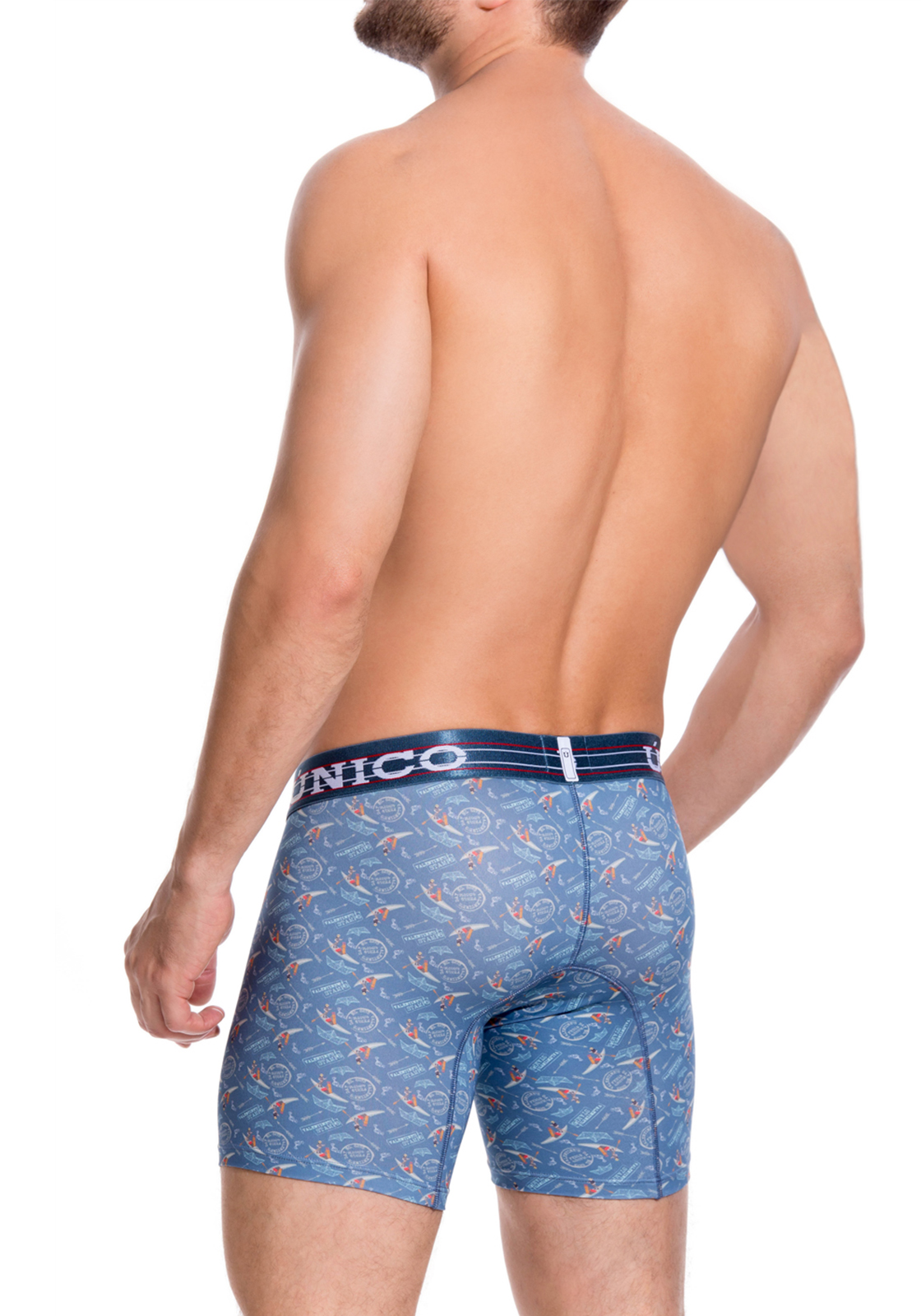 Mundo Unico print L Boxer Cup Long Leg Boating