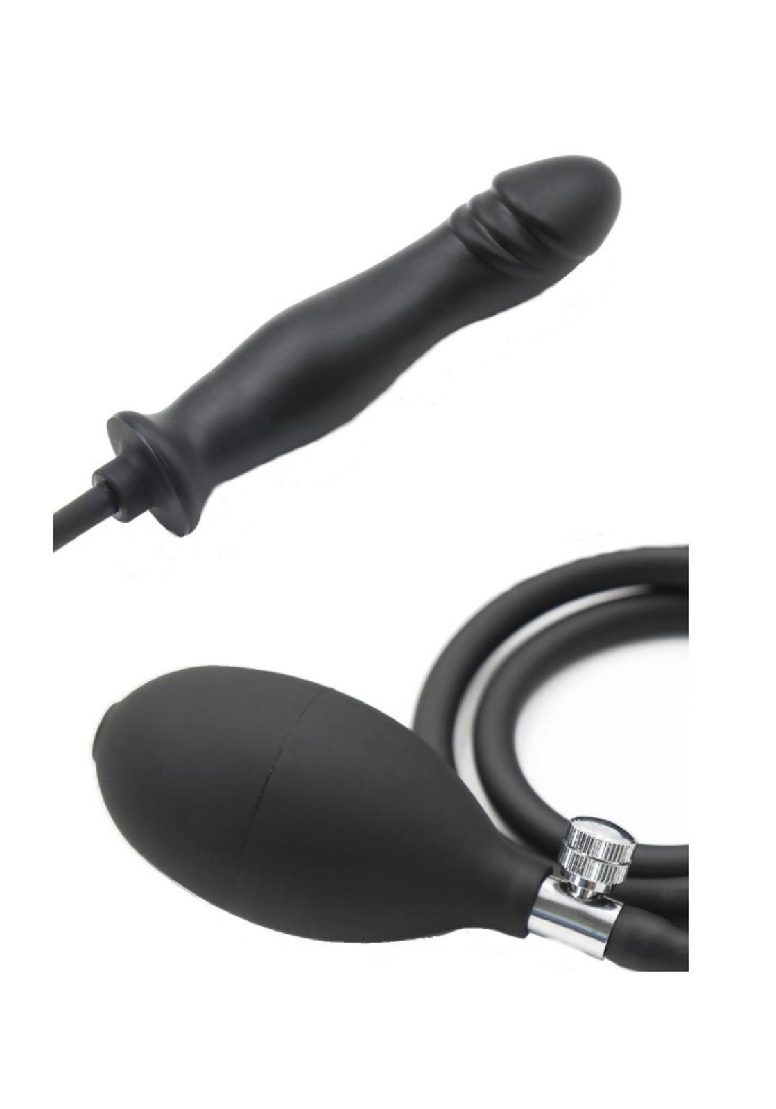 Rude Rider: Inflatable Dildo | Black