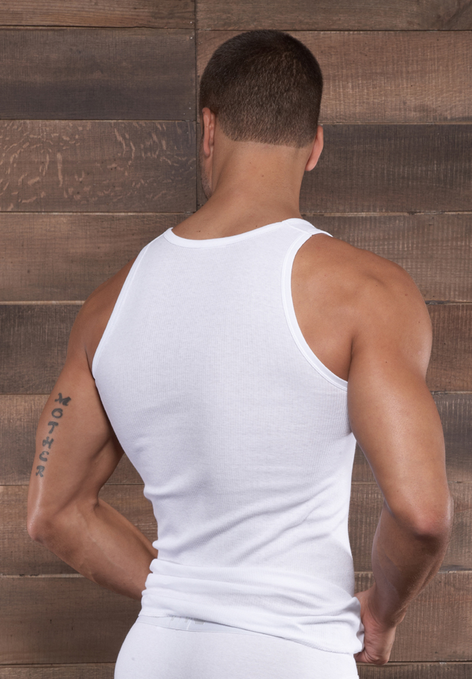 C-IN2 Core Square Neck Tank Top | White
