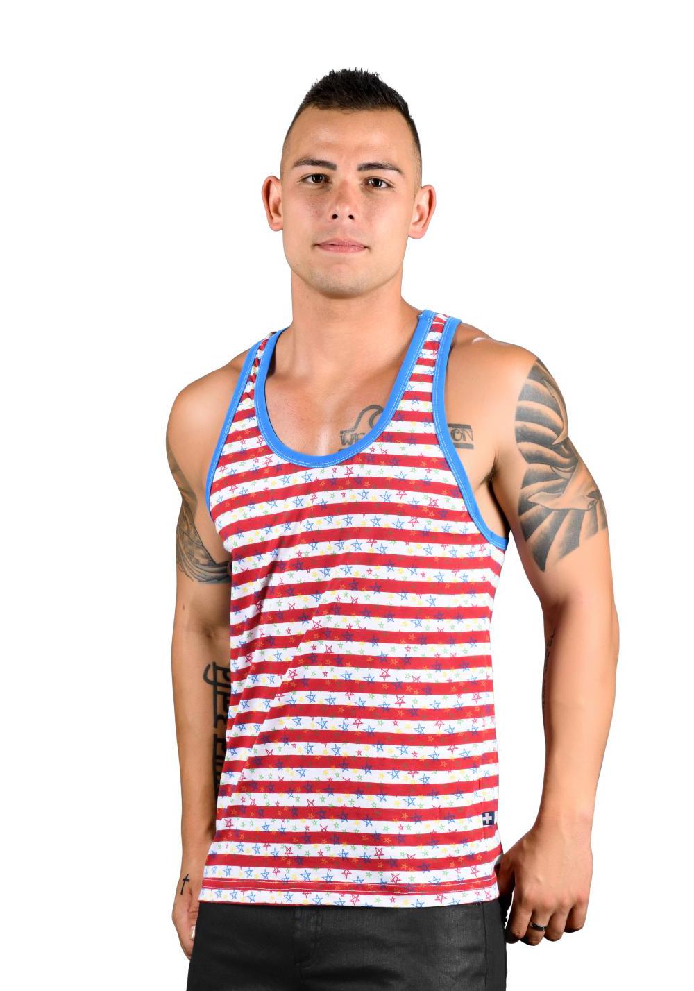 Andrew Christian Stars & Stripes Racer Back Tank