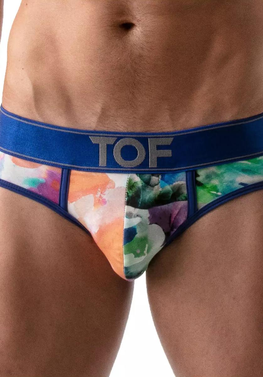TOF Tie Dye Push-Up Brief | Blue