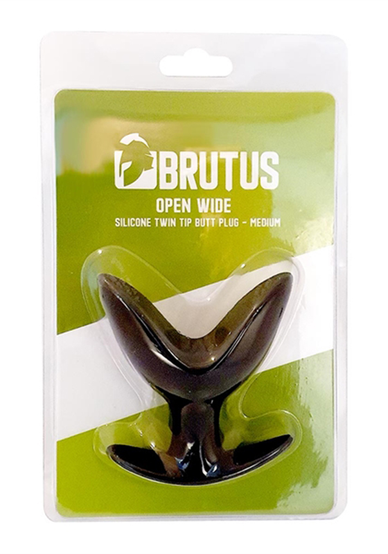 Brutus: Open Wide Silicone Twin Tip Butt Plug M