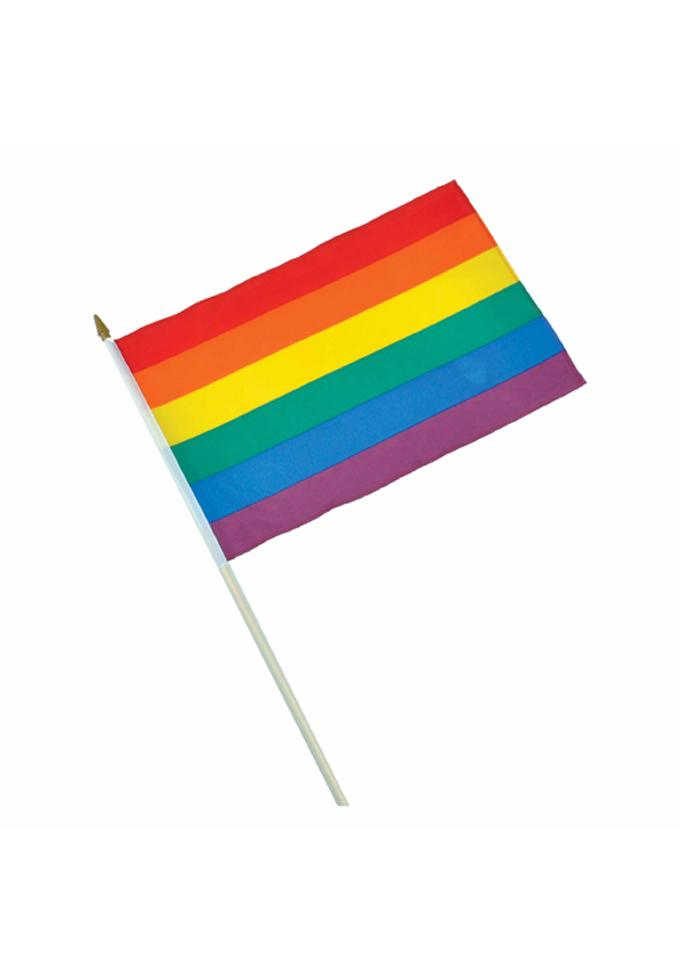 Regenbogen-Stabfahne
