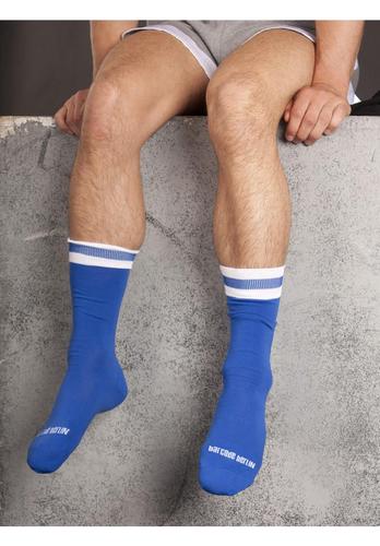Barcode Berlin City Socks | Blue/White