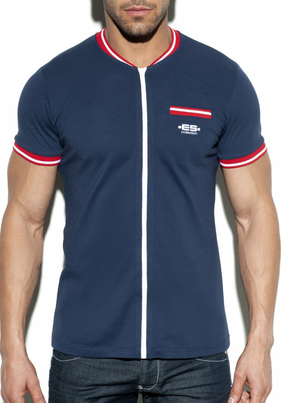 POLO30 Full Zip Mao Polo | Navy