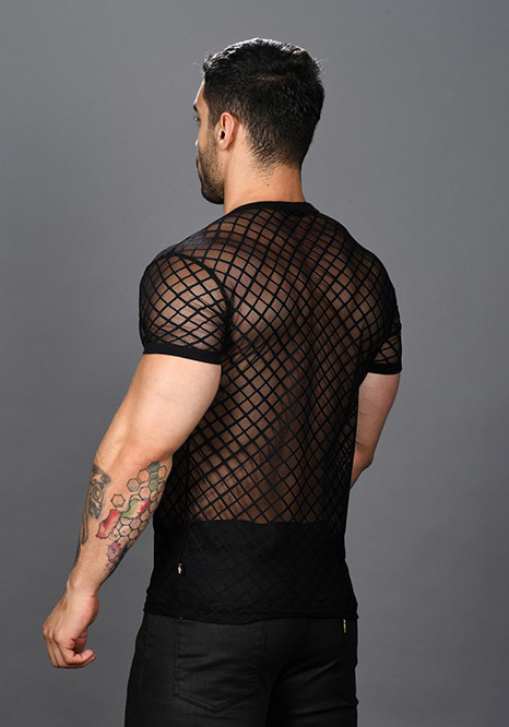 Andrew Christian Lace Sheer Tee Shirt