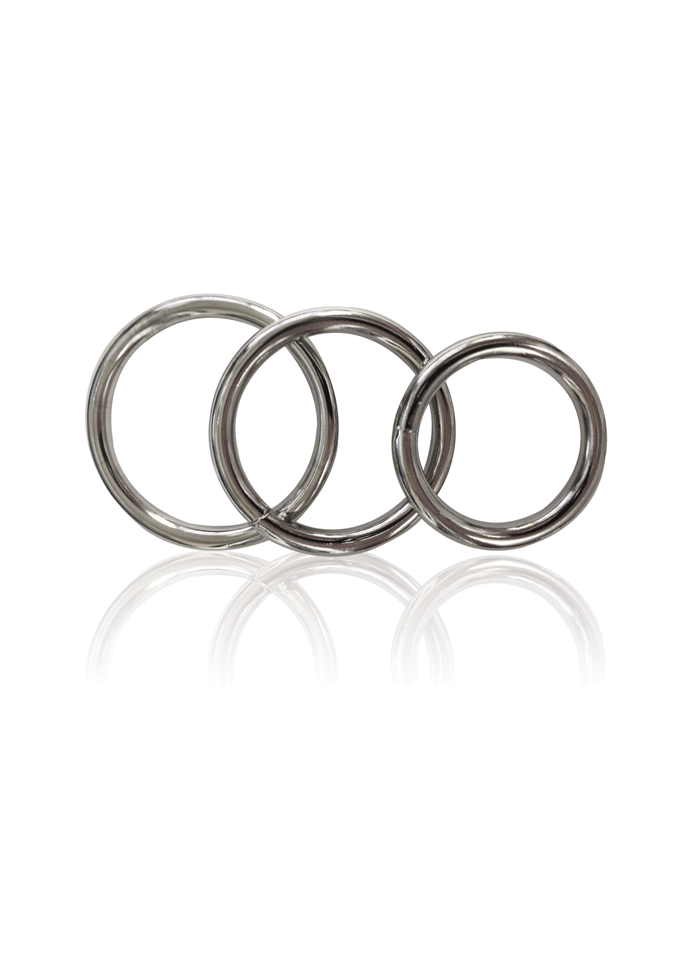 Manbound Metal Cock Ring - 3er Set