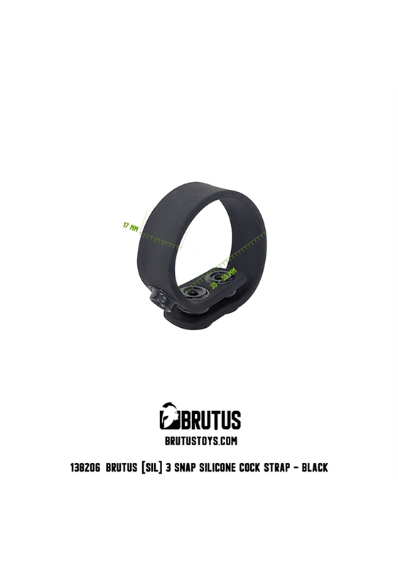 Brutus: 3 Snap Silicone Cock Ring