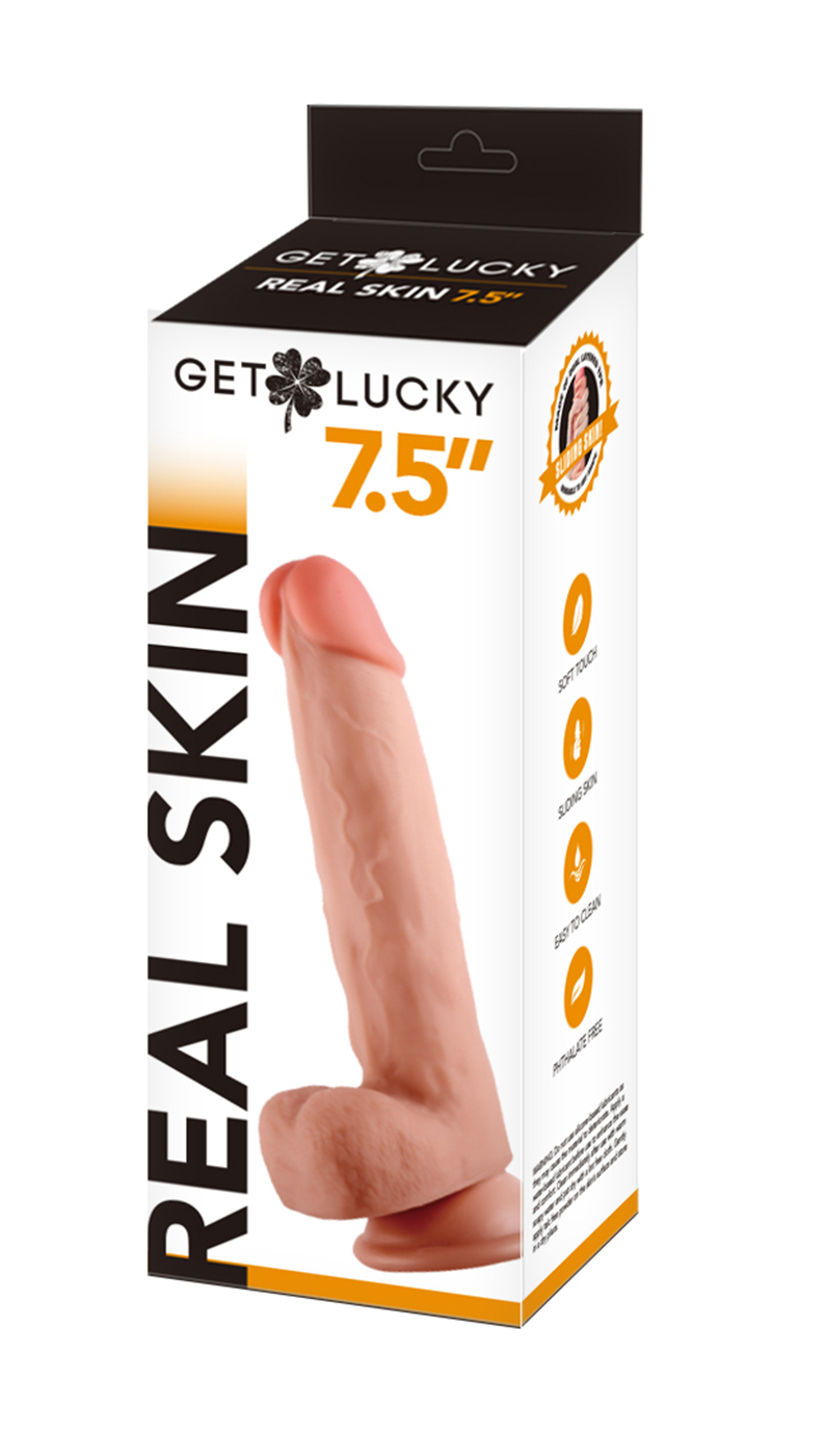 Get Lucky: Flesh Real Skin Dildo 7,5''