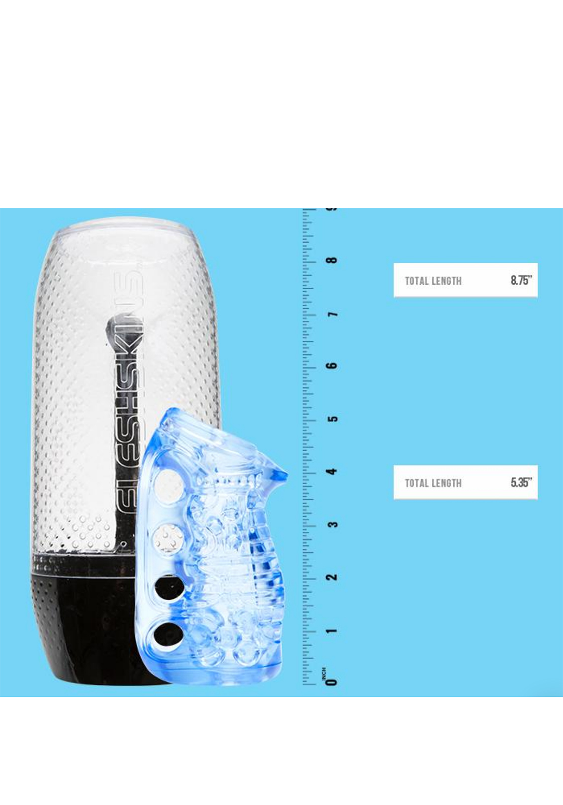 Fleshlight Fleshskins Grip Masturbator (clear blue ice)